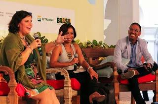 Marielson Carvalho (right) in the oppening of FLICA - Festa Literária de Cachoeira © 2014